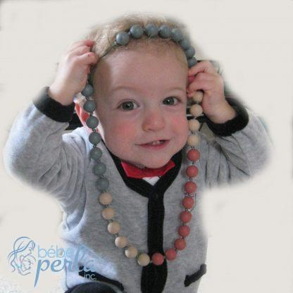 Collier maman à mâcher en silicone | Silicone chewable Mommy necklace
