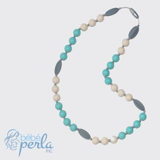 Collier enfant à mâcher en silicone - PEBBLES AND WAVES | Silicone chewable Toddler necklace