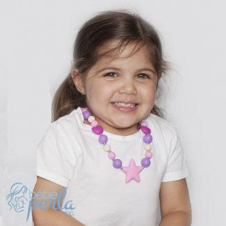 Collier enfant en silicone à croquer - STARBRIGHT | Silicone chewable Toddler necklace