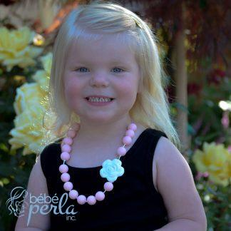 Collier à croquer en silicone - FLOWER ROSE | Silicone chewable necklace
