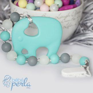Jouet à mâcher en silicone éléphant à mâcher | Silicone Teething elephant chew toy