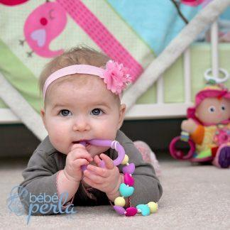 Jouet coeur de dentition en silicone | Silicone teething heart toy