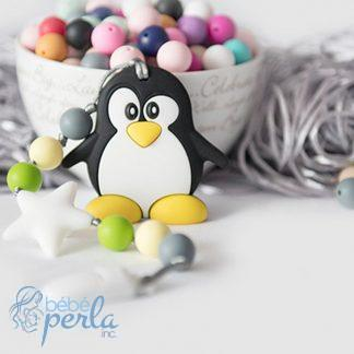 Jouet de dentition en silicone jouet de dentition pingouin | Silicone teething toy penguin teething toy