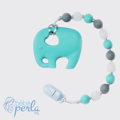 Elephant Glow in the Dark Aqua Jouet de dentition | Elephant Glow in the Dark Aqua Teething toy