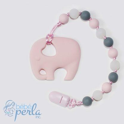 Jouet de dentition en silicone brille dans l'éléphant noir | Silicone teething toy glow in th dark elephant