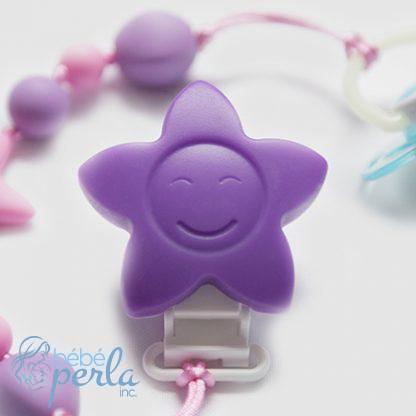 Clip Flower Purple Silicone