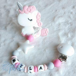 Silicone teething clip Mila
